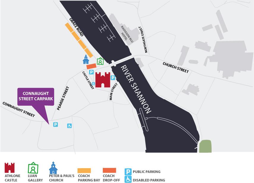 Athlone Castle Map