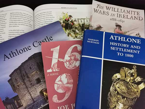 Some examples of books from our recommended reading list. Including Rory Sherlock's 'Athlone Castle' book which can be purchased online or in our store on site when you visit.