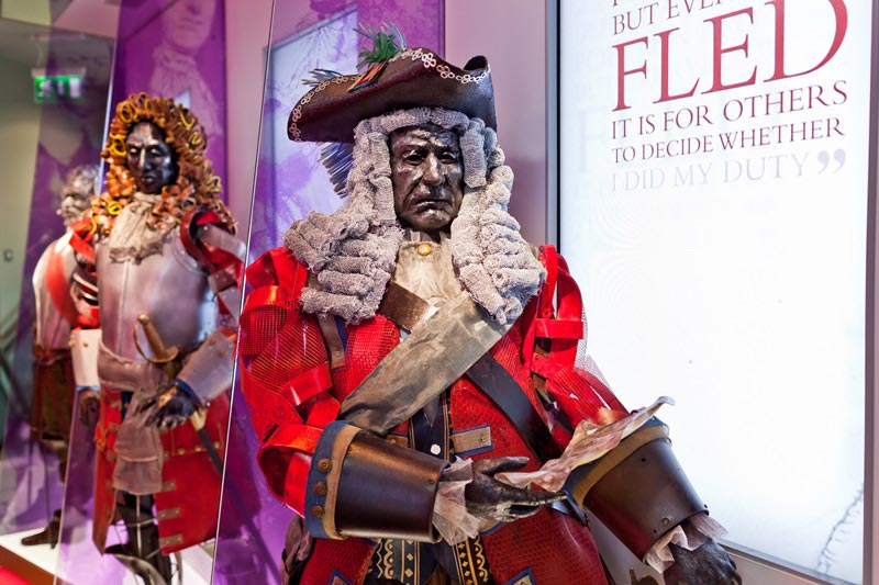 A stunning sculpture of Marqius d'Usson of the Jacobite army during the Siege of 1691 in Athlone. Made out of recycled materials he stands tall and proud in the People of the Siege exhibition at Athlone Castle Visitor Centre.