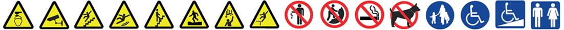 Hazards warning signs